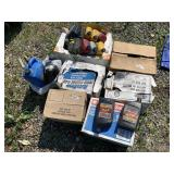 Large lot with automobile oil 10w-30, aerosol cans