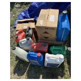 Large lot w/ automobile oil 10w 30, brake cleaners