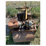 Vintage gravel-road compactor unknown working cond