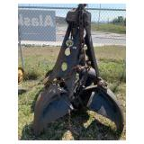 Heavy duty 4 piece scoop attachment for a crane or