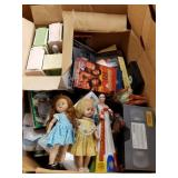 Lot with boxes full of miscellaneous items: VHS mo