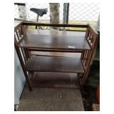 Large lot with wooden furniture, storage stand boo