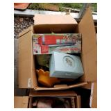 Lot with 4 boxes with miscellaneous items, toys, b