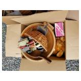 Lot with 3 boxes with miscellaneous items: electri
