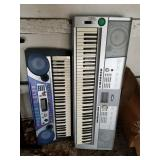 Lot of 2 keyboards: 1 is Yamaha model portable Gra