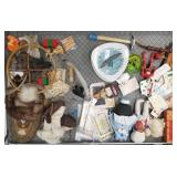 Case lot with buttons, fossilized bone, fossils, c