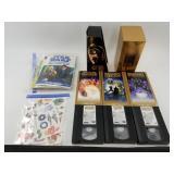Lot including: Star Wars Trilogy 4-6 on VHS, Assor