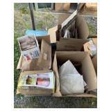 Pallet lot with miscellaneous items: books, maps,