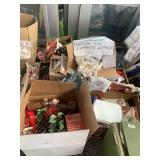 Large lot with miscellaneous Christmas items: tree