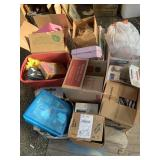 Large set with miscellaneous items: dolls, doll ca