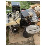 Large lot with electronics, cross cut paper shredd