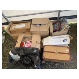 Large lot with dolls, and suitcases and dolls in b
