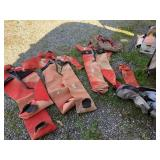 Large lot with survival suits with bags