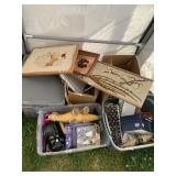 Large lot with miscellaneous items: artwork, beani