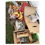 Large lot including toys, ceramic decorations, dol