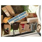 Large lot including toy chicken coop, dolls access