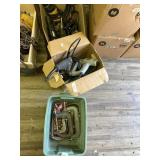 2 boxes full with drills, electric staples gun san