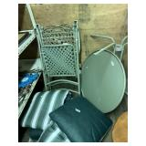 Metal outdoor set complete with metal top table an