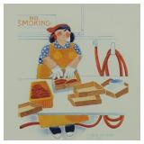 """Rie Munoz signed and numbered print """"Packing Salmo"""
