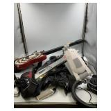 Misc. lot of gaming accessories including two guit