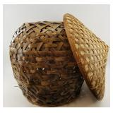 """Lot of 2.  Hand-woven bamboo basket.  18"""" tall.  A"""