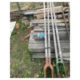 Lot with 2 post diggers      (M 75)(Y)
