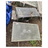 Lot wit h3 military trunks, one is metal and 2 are