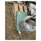 Lot with 2 items: one is a coleman cmap stove and