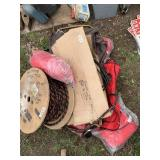 Large lot with misc. items including insert vest,