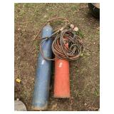 Cutting and welding ACETYLENE-oxygen set wit htank