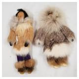 Lot of 2 handmade native doll                    (