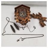 West German cuckoo clock w/ no weights. Pendulum i