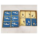 Lot of 12 6 Walrus Ivory Pins, 4 Sterling silver a