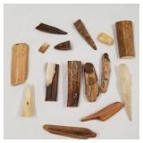 Large lot of mostly fosssilised Ivory scraps large