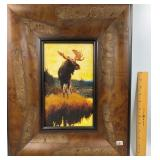 Framed image of a moose         (K 109)