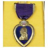 WWI era purple heart with presentation case