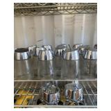 2 shelf lots with stainless steel items including
