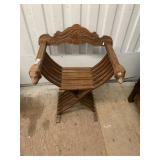 Unique solid wood folding carved chair in good con
