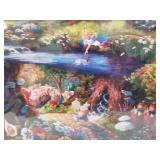 Thomas Kincade double matted and wrapped print fro