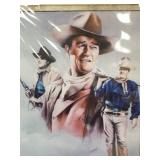 A double matted and wrapped print of John Wayne 14