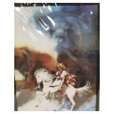 """Bev Doolittle double matted and wrapped print 14""""x"""