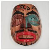 """Tlingit style wooden wall hanger, 8"""" new and impor"""