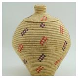"""10"""" Basket by Nellie Piokok of Kipnuk, AK with dye"""