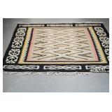 "Machine woven rug Navajo style  61"" wide x 6.5"