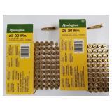 Lot of 2: 50 Round boxes of Remington 25-20 86 gra