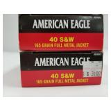Lot of 2: 50 Round boxes of American Eagle .40 S&W