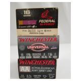 "Lot of 3: 25 round box of Winchester 12 ga. 2 3/4"""