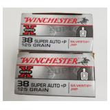 Lot of 2: 50 Round boxes of Winchester .38 Super a