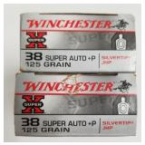 Lot of 3: 50 Round boxes of Winchester .38 Super a