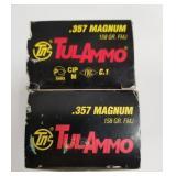 Lot of 2: 50 Round boxes of Tulammo .357 158 grain